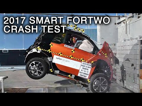 2017 Smart Fortwo Frontal Crash Test