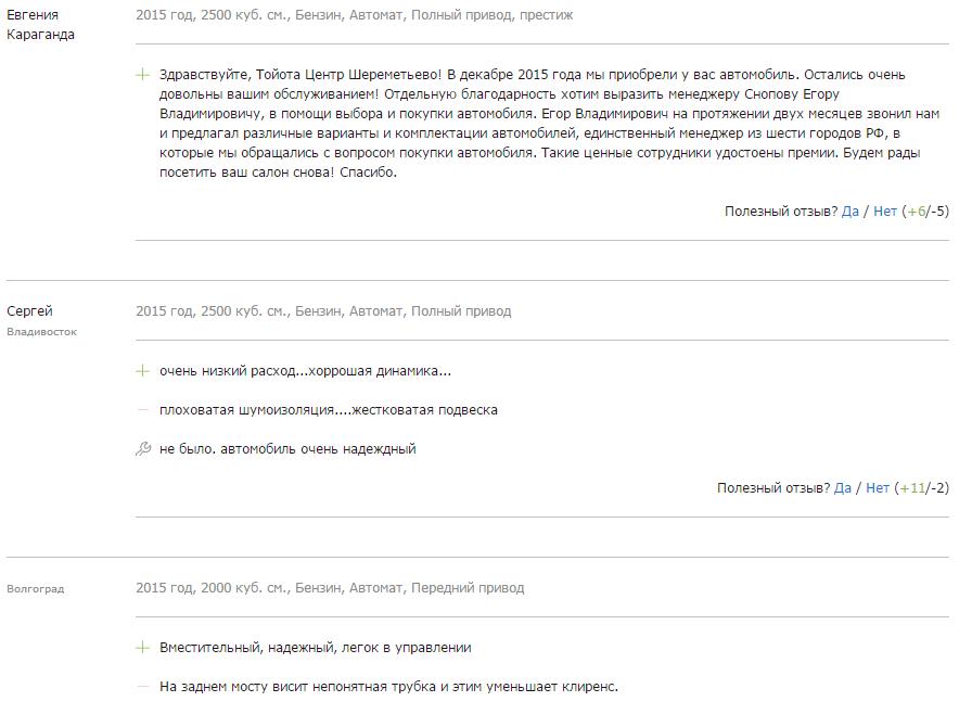Отзывы о новом рав 4 2018