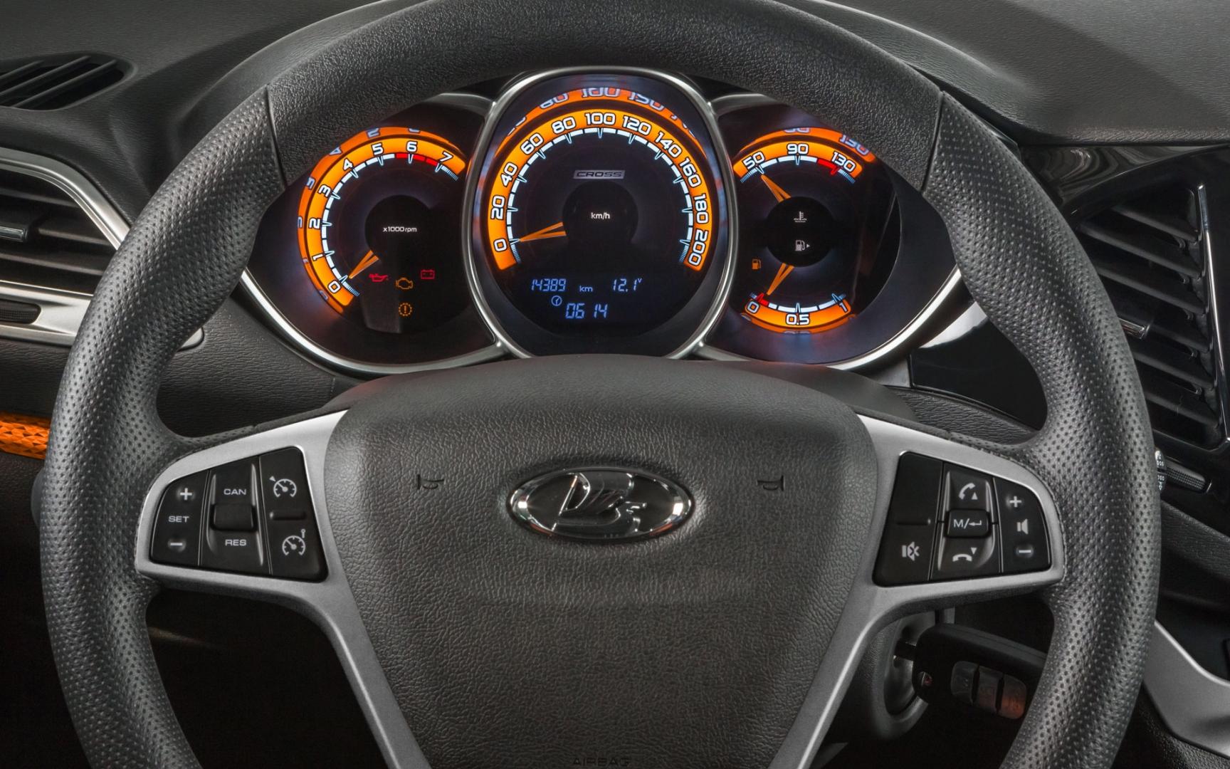 Лада «Веста» - Интерьер - Рулевое колесо