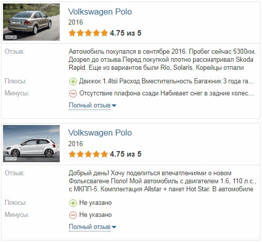 Volkswagen Polo отзывы владельцев