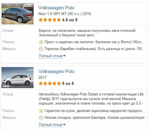 Volkswagen Polo отзывы