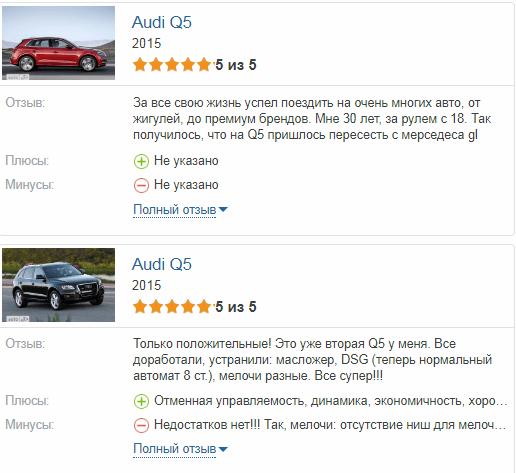 Audi Q5 отзывы владельцев