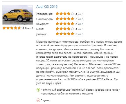 отзыв о Audi Q3