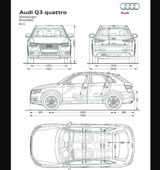 размеры audi q3