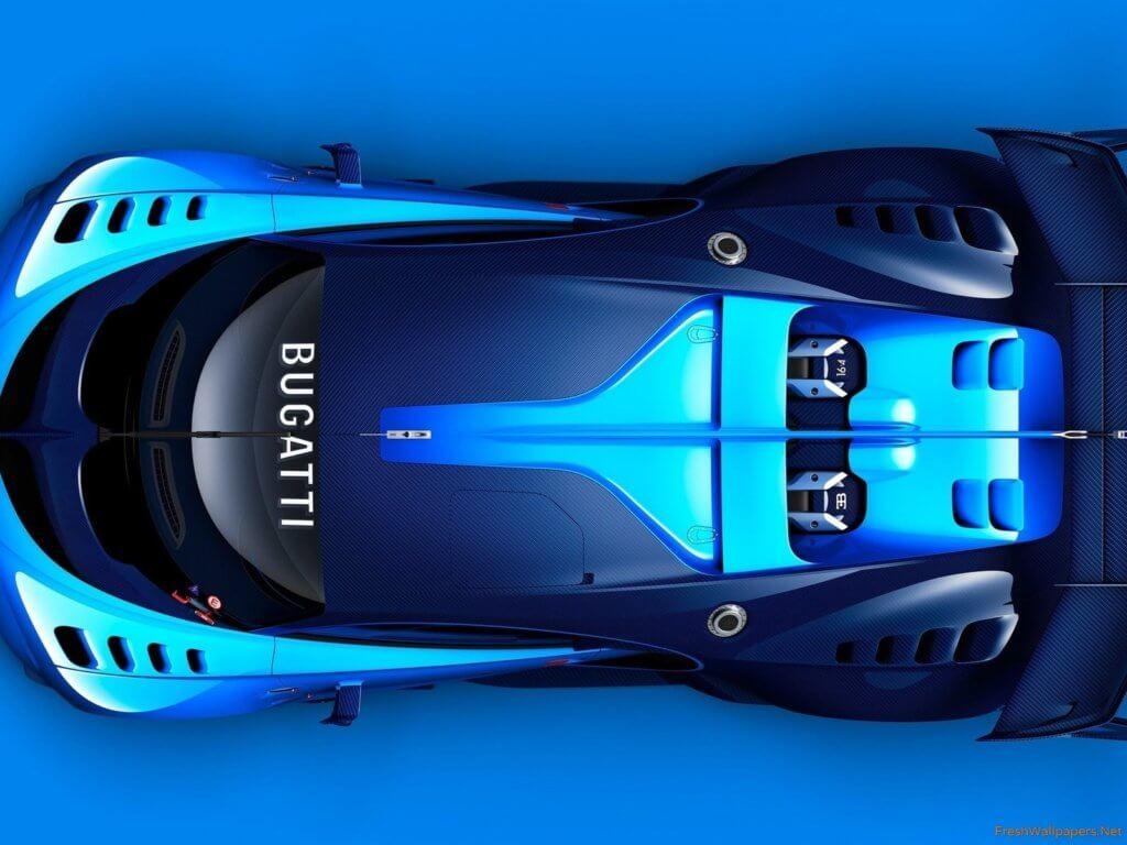 Bugatti Chiron 2019 - Бугатти Чирон вид сверху