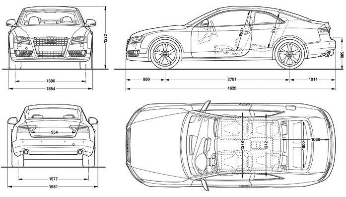 размеры Audi