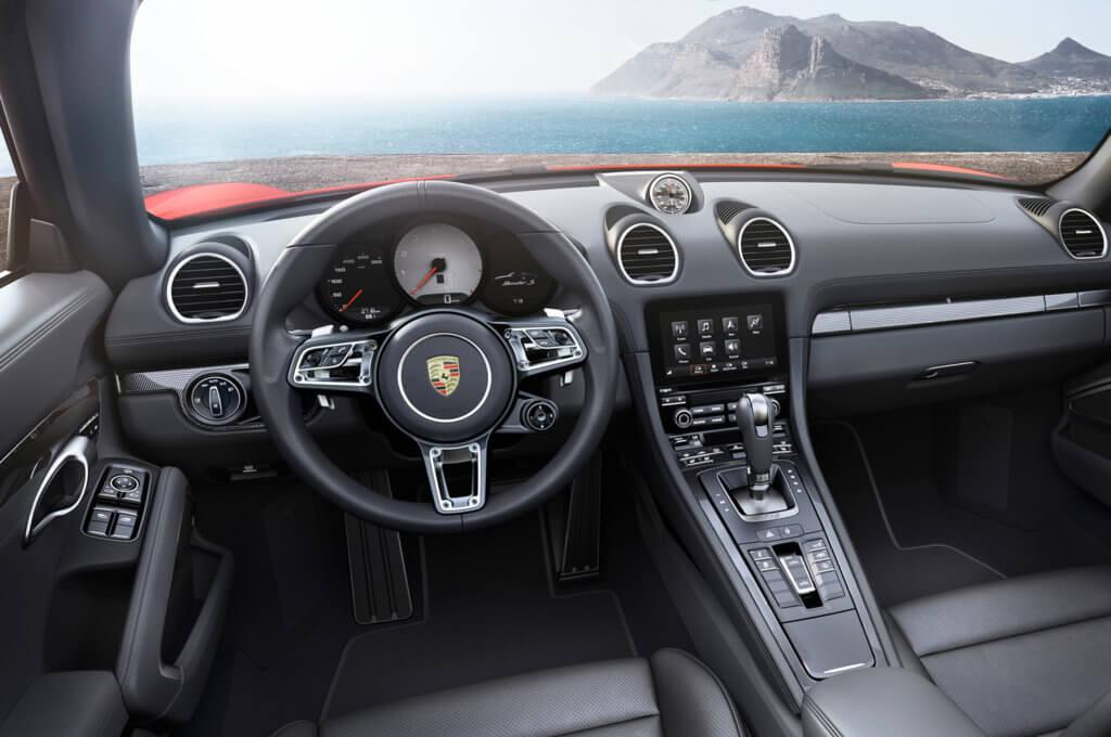 Porsche Boxster Spyder управление