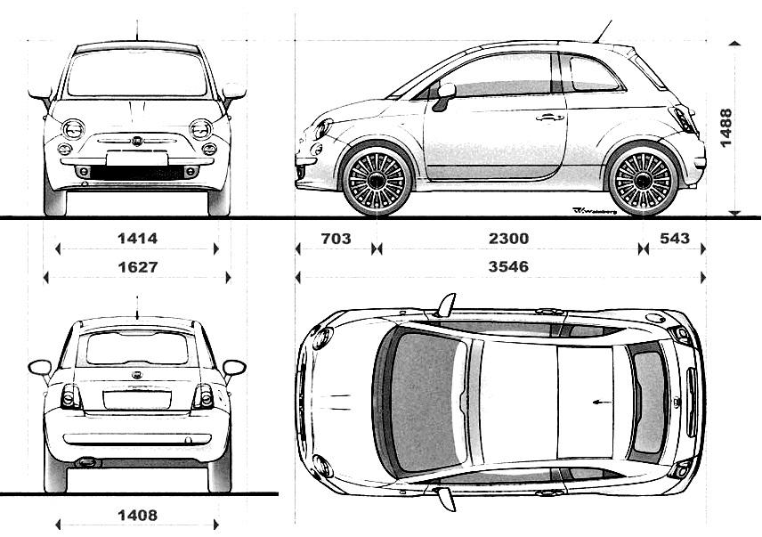 Fiat 500 параметры