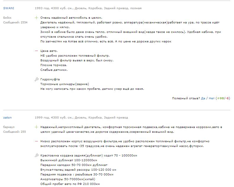 Отзыв о Isuzu Elf 2