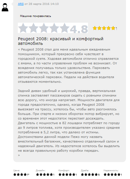 Отзыв владельца 2008