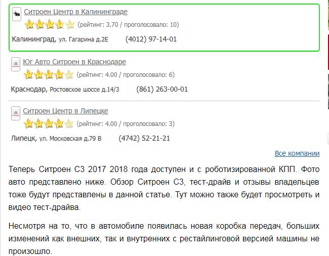 Ситроен С3 2018 года - отзывы