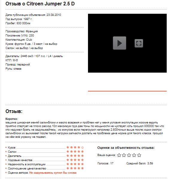 Отзыв о Citroen Jumper