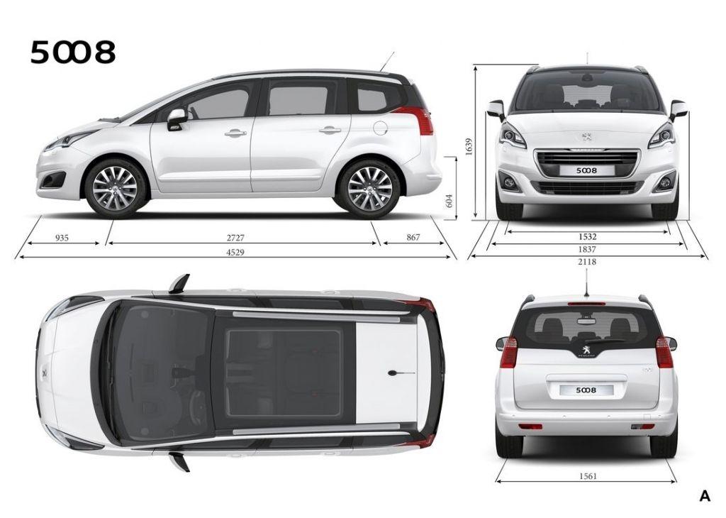 Peugeot 5008 размеры