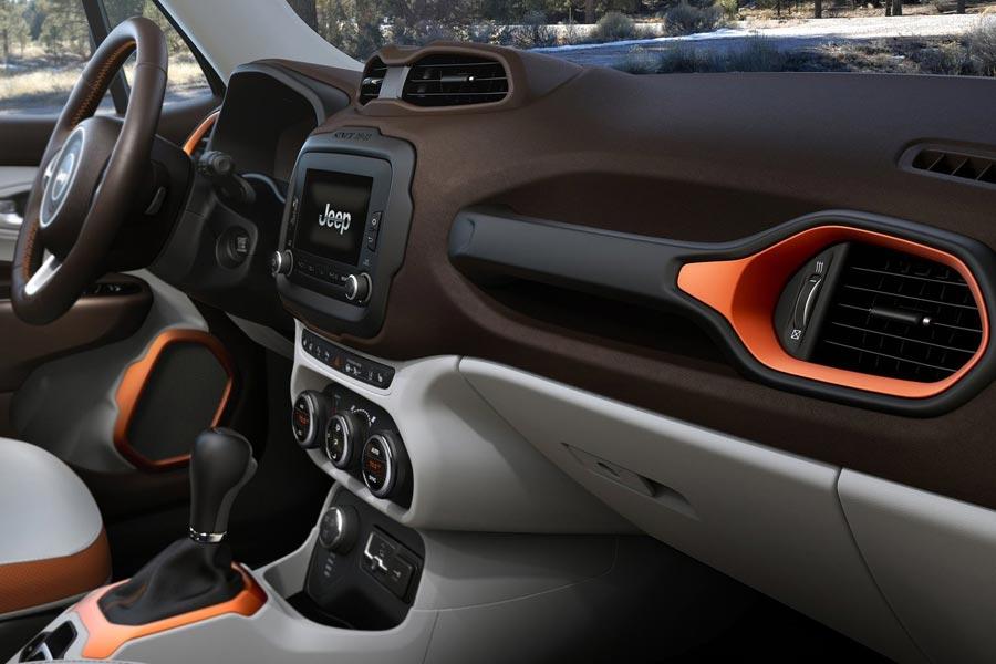Jeep Renegade 2019 года - Интерьер - Передняя панель