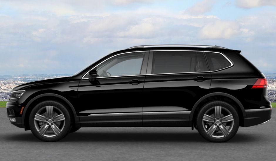 чёрный Volkswagen Tiguan