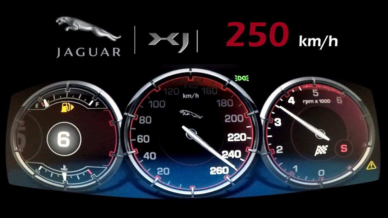 скорость jaguar xj