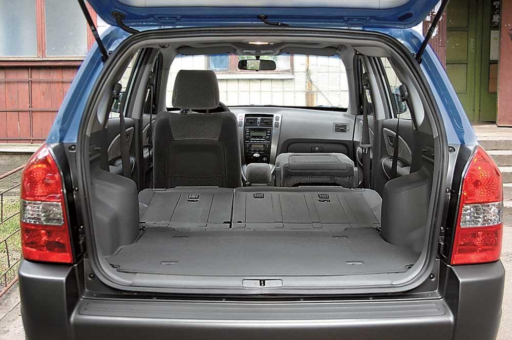 hyundai tucson 2008 багажник