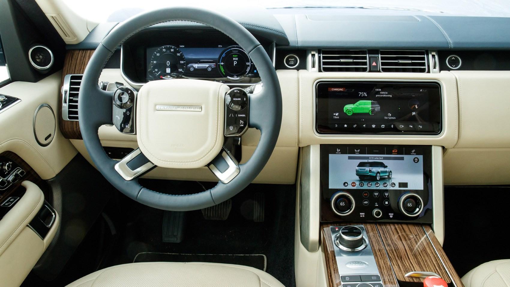 range rover панель управления