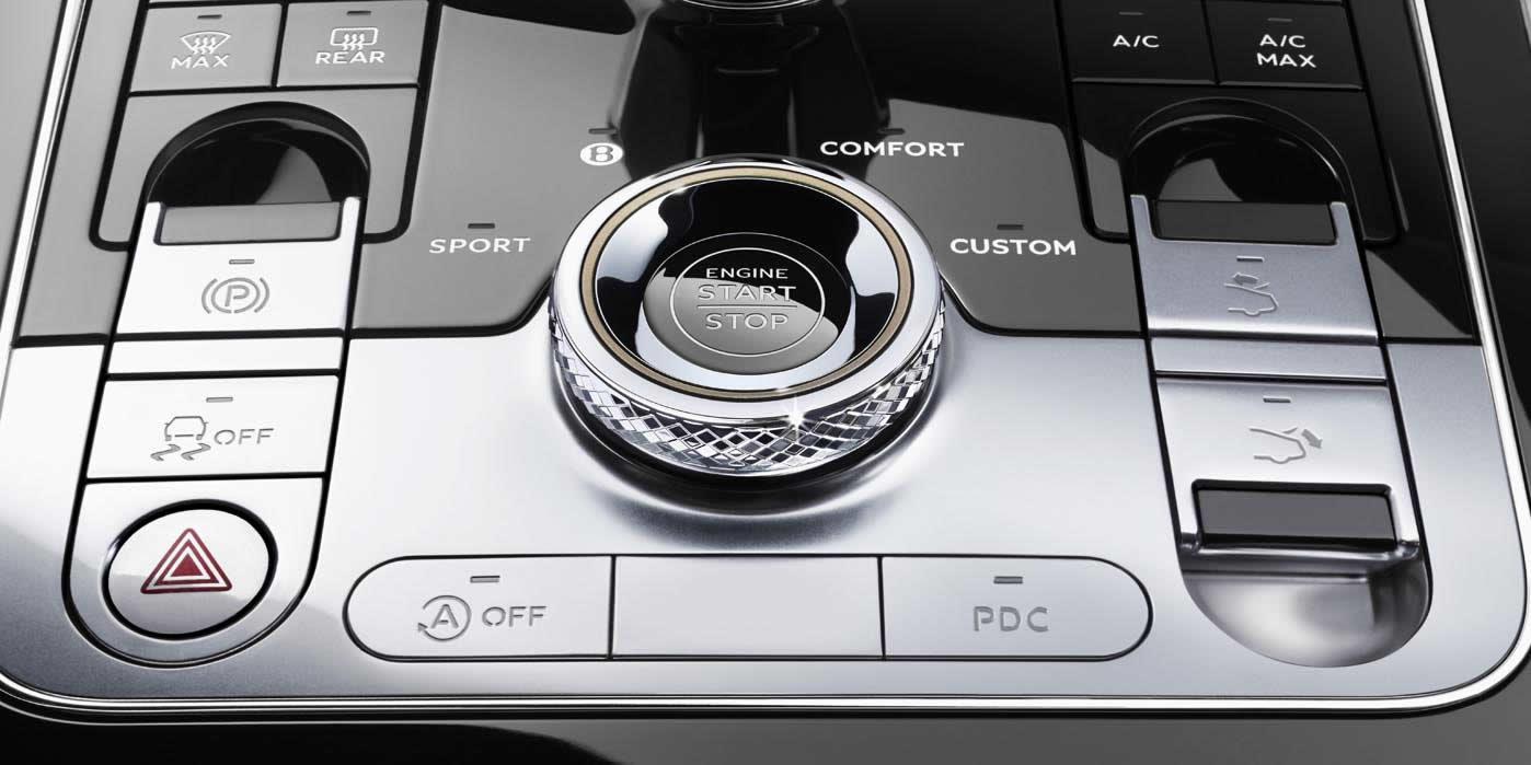 Bentley Continental GT 2017-2020 - Консоль управления