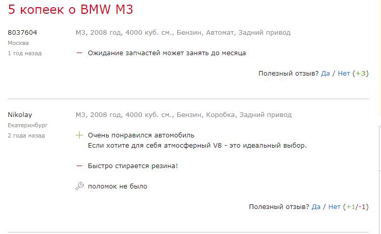 5 копеек о BMW M3