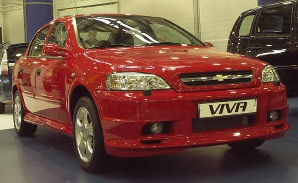 Chevrolet Viva красный