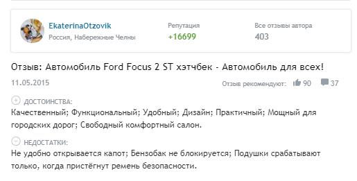 Ford Focus 3 ST 2019 года - Отзывы