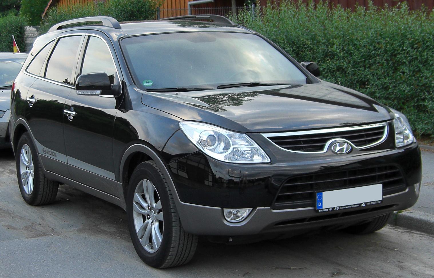 hyundai ix55 чёрный.