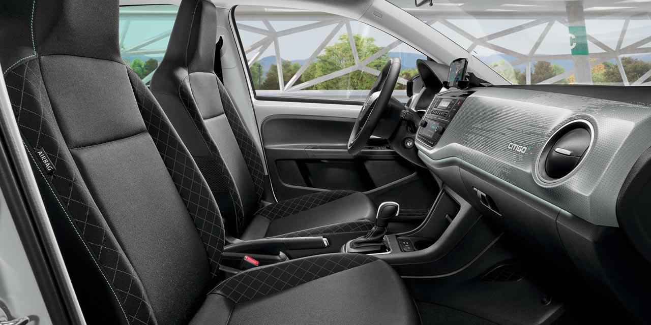 Citigo-e iV - Интерьер - Передний ряд сидений