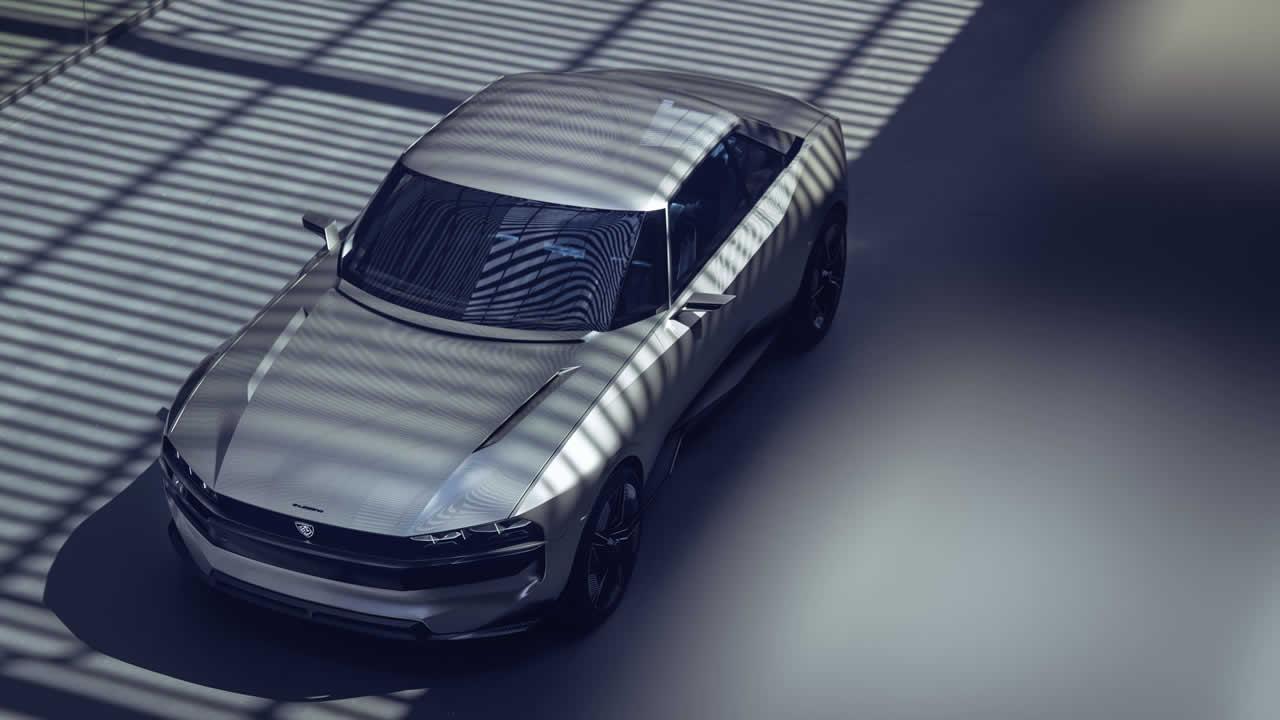 Peugeot E-Legend - вид сверху