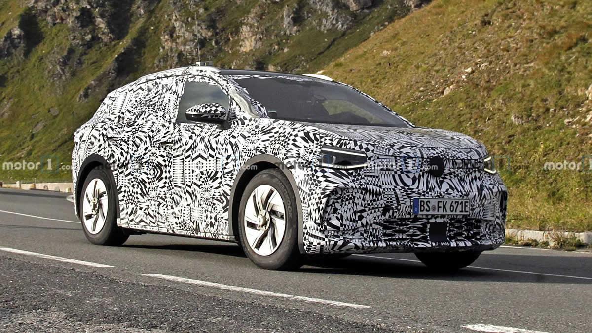 Volkswagen ID.4 - тестирование авто, шпионские снимки