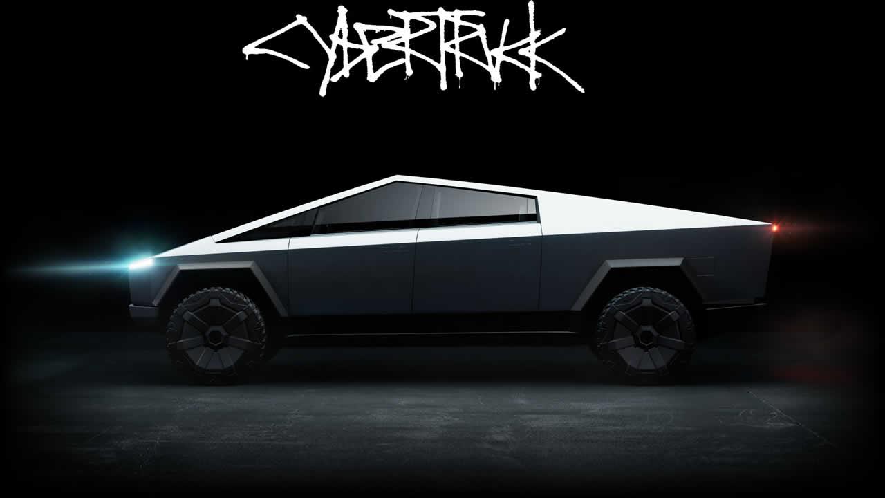 Tesla Cybertruck - Общий вид сбоку