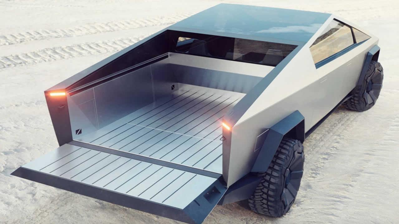 Тесла КиберТрак - С открытым кузовом