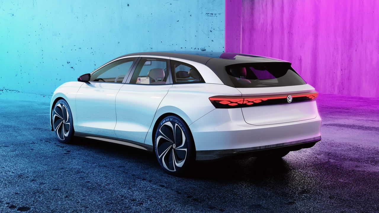 VW ID. SPACE VIZZION - Вид сзади
